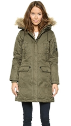 Spiewak Womens Aviation N3 B Faux Fur Parka Andrea Olive
