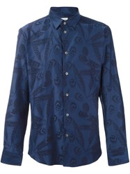 Paul And Joe Feather Print Shirt Blue