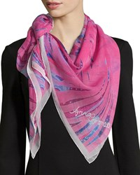 Anna Coroneo Magic Classic Silk Square Scarf Pink