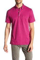 Tailorbyrd Button Down Collar Classic Trim Fit Polo Red