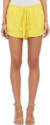 Mason By Michelle Mason Drawstring Shorts Yellow Size 2 Us