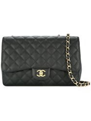 Chanel Vintage Double Chain Shoulder Bag Black