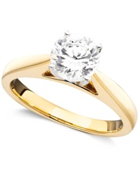 Macy's Engagement Ring Certified Diamond 1 1 4 Ct. T.W And 14K Yellow Gold
