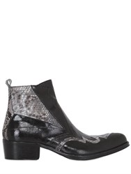Jo Ghost Handcrafted Leather And Python Boots