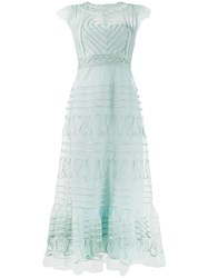 Red Valentino Lace Embroidered Dress Blue