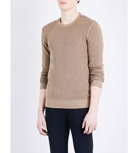 The Kooples Zip Detail Stretch Cotton Jumper Cam01