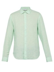 Orlebar Brown Giles Linen Shirt Green