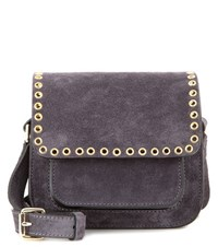 Etoile Isabel Marant Mafra Embellished Suede Crossbody Bag Grey