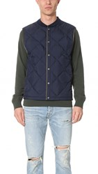 Vince Down Quilted Vest Navy