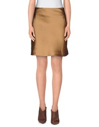 Normaluisa Skirts Knee Length Skirts Women Camel