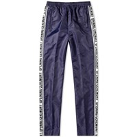 Opening Ceremony Taped Logo Warm Up Pant Blue