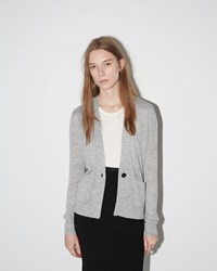 Isabel Marant Abilay Ruff Knit Cardigan Light Grey