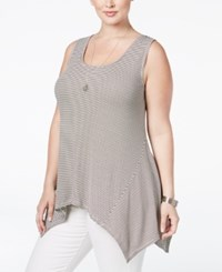 American Rag Trendy Plus Size Striped Knit Tank Top Only At Macy's