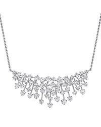 Hueb Luminus 18K White Gold Diamond Bib Necklace