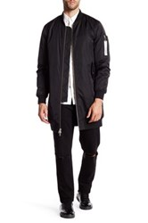 Members Only Elongated Ma 1 Bomber Black