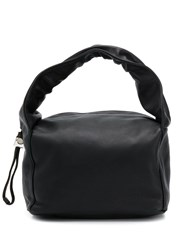 Kara Drawstring Handle Bag Black