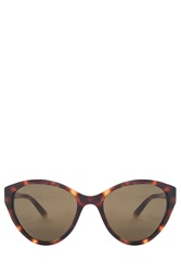 Linda Farrow Tortoise Shell Cateye Sunglasses Brown