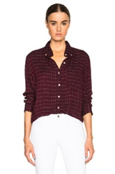 Etoile Isabel Marant Isabel Marant Etoile Prune Tap Dance Shirt In Red Checkered And Plaid