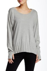 Planet Thumb Tab Sweater Gray