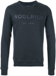 Woolrich Printed Logo Sweatshirt Cotton Polyester S Blue