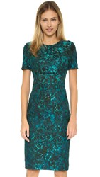 Black Halo Bailey Sheath Dress Teal