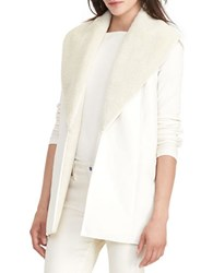 Lauren Ralph Lauren Shados Shawl Collar Vest Winter Cream