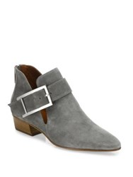 Aquatalia By Marvin K Filomena Buckle Suede Booties Sand Ash