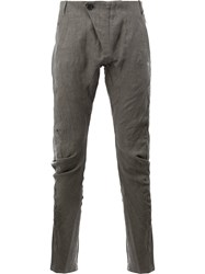 Masnada Tapered Casual Trousers Grey