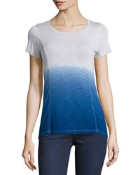 Design History Dip Dye High Low Tee Graphic Blue