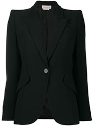 Alexander Mcqueen Single Button Blazer Black