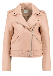 Gestuz Zilla Leather Jacket Rugby Tan Rose