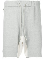 Mr. Completely Drawstring Fitted Shorts Grey