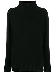 The Elder Statesman Relaxed Fit Cashmere Jumper Black