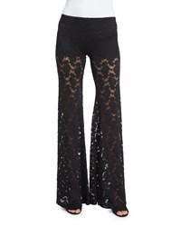 Nightcap Clothing Wallflower Lace Bell Bottom Pants Black