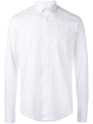 Les Hommes Concealed Fastening Shirt White