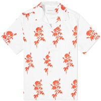 Nasaseasons Rose Print Vacation Shirt White