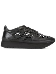 Kenzo Tiger Stripes Cut Out Sneakers Black