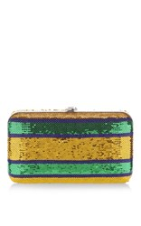 Rochas Borsa Paillette Clutch Gold Green Blue