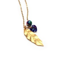 Miss High And Low Pocahontas Necklace Gold Pink Purple