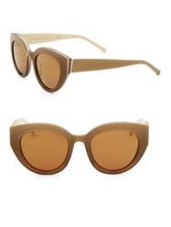 Colors In Optics Carnavale Thick Plastic Cat Eye Sunglasses Taupe Bronze Flash Red Black Tortoise