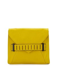 French Connection Harper Envelope Clutch Bag Acid Blonde
