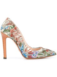 Ermanno Scervino Floral Pattern Pumps