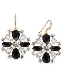 Charter Club Gold Tone Crystal Jet Stone Drop Earrings Only At Macy's