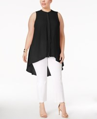 Alfani Plus Size High Low Tunic Only At Macy's Deep Black