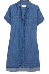 Madewell Denim Shirt Dress Blue