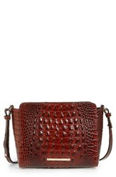 Brahmin Melbourne Carrie Leather Crossbody Bag Brown Pecan