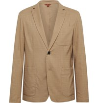 Barena Tan Borgo Unstructured Woven Suit Jacket Brown