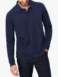 Joules Woody Long Sleeve Polo Shirt Blue