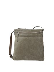 White Stuff Leila Suede Ns Crossbody Bag Grey