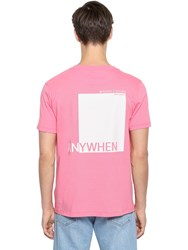Valentino Anywhen Print Cotton Jersey T Shirt Heavy Pink